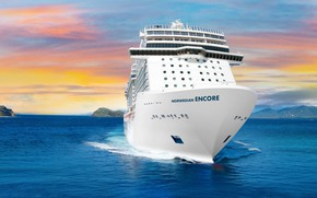 Picture The ocean, Sea, Liner, The ship, Rendering, Passenger ship, Passenger liner, Cruise ship, Cruise liner, …