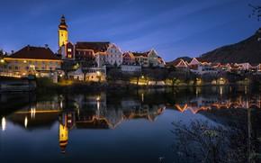 Picture lights, the evening, Austria, Frohnleiten