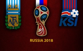 Picture wallpaper, sport, logo, football, FIFA World Cup, Russia 2018, Argentina vs. Iceland