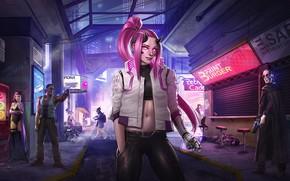 Picture rpg, video game, night city, CD Projekt RED, Cyberpunk 2077, gir, Cyberpunk