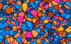 Picture glass, mosaic, colorful