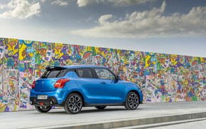 Picture graffiti, Suzuki, Hybrid, Swift, Sport, 2020, wall