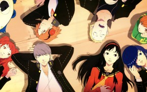Picture background, the game, anime, art, characters, Person 4, person