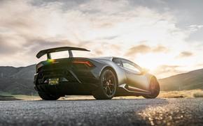 Picture sunset, Lamborghini, Performante, Huracan, 2020, VF Engineering