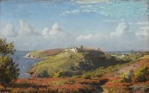 Picture Danish painter, 1882, Peter Merk Of Menstad, Peder Mørk Mønsted, Summer landscape, Danish realist painter, …