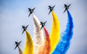Picture aerobatic team, Chengdu J-10, Air China, August 1