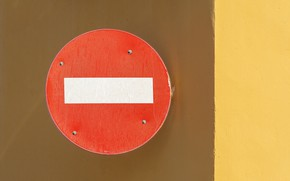 Picture minimalism, traffic sign, No entry