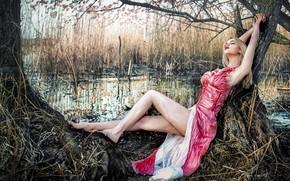 Picture girl, nature, Dreamland