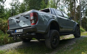 Picture grey, Ford, wheel, body, Raptor, pickup, hanging, suspension, Ranger, 2019