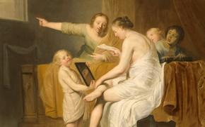 Picture oil, picture, canvas, mythology, The Toilet Of Bathsheba, Pieter de Grebber, 1644, Peter Spanjaert de …