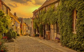 Picture road, street, England, home, Paradise, street, England, East Sussex, East Sussex, Rye, Mermaid Street