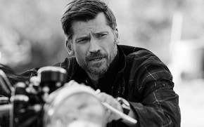 Picture motorcycle, male, Nikolaj Coster-Waldau