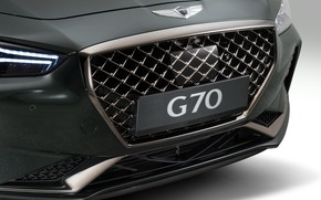 Picture sedan, Hyundai, the front part, Genesis, 2019, G70, grille