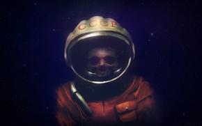 Picture Stars, Dead, Astronaut, USSR, USSR, Art, Space, Art, Concept Art, madeinkipish, Dmitry Bogolyubov, Silent cosmonaut, …
