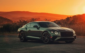 Picture hills, coupe, Bentley, the evening, 2019, Continental GT V8