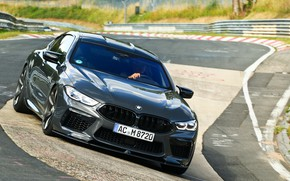 Picture asphalt, coupe, track, turn, BMW, Gran Coupe, AC Schnitzer, 2020, BMW M8, M8, the four-door, …