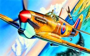 Picture Supermarine Spitfire, Spitfire Mk.Vb, 249 Sqn RAF, Falcon of Malta, George ''Buzz'' Beurling