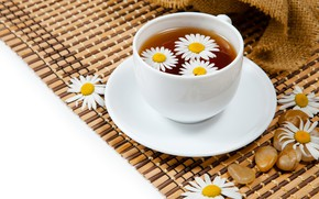Picture drink, Daisy, tea, Cup