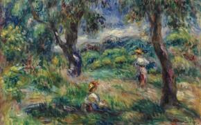 Picture landscape, picture, 1915, Pierre Auguste Renoir, Pierre Auguste Renoir, Landscape in Blue