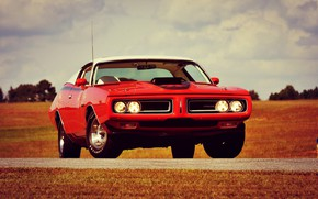 Picture Dodge, Red, Car, Classic, Charger, Old, Muscle car, R/T
