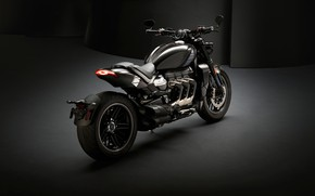 Picture triumph, motocycle, dark background, triumph rocket iii