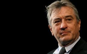 Picture look, background black, Robert De Niro, Robert De Niro, : actor