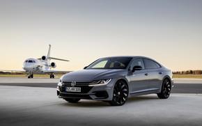Picture grey, coupe, Volkswagen, the plane, liftback, 2020, Arteon, 4Motion, R-Line Edition