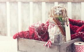 Picture winter, scarf, Bank, marshmallow, Valeria Maksakova