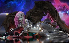 Picture girl, angel, cyborg