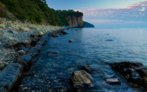 Picture sea, landscape, nature, stones, shore, morning, Tuapse, Alexander Plekhanov, Skala Kiseleva