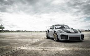 Picture Porsche, GT2, Silver, VAG, Sight