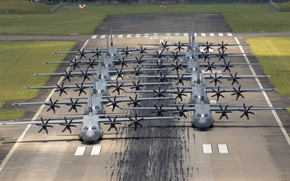Picture The plane, USAF, Military transport, Elephant Walk, C-130J Super Hercules