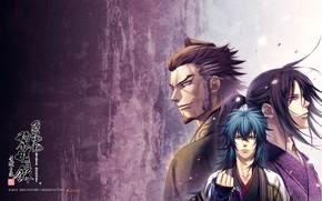 Picture anime, guys, trio, samurai, Hakuouki