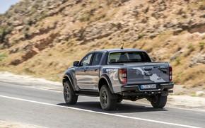 Picture road, grey, markup, Ford, slope, Raptor, pickup, Ranger, 2019