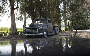 Picture water, surface, reflection, 150, pickup, 2018, GMC, 1949, ICON, Long Bed Derelict, GMC 150