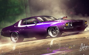 Picture Auto, Machine, Purple, Art, Plymouth, Transport, 1973, Road Runner, Vehicles, Transport, Plymouth Road Runner, Transport …
