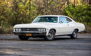 Picture Chevrolet, Car, White, Impala, Muscle classic, 1967 Year, 427 SS