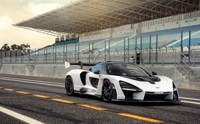 Picture McLaren, supercar, 2018, Senna, Pure White