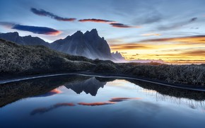 Picture nature, Iceland, Vestrahorn