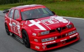 Picture The hood, Alfa Romeo, Lights, DTM, 1993, Icon, Sports car, Alfa Romeo 155 V6 TI …