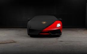 Picture red, Lamborghini, headlight, fabric, red, Gallardo, Lamborghini, Lamborghini Gallardo, covered