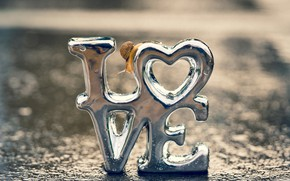 Picture drops, macro, light, love, letters, background, mood, the inscription, heart, silver, snail, silver, heart, metallic, …