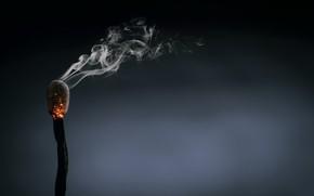 Picture background, smoke, match