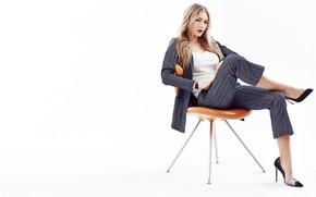 Picture look, pose, makeup, actress, costume, on the chair, Oksana Akinshina