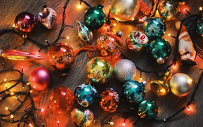 Picture balls, decoration, balls, Christmas, garland, Christmas toys, New year