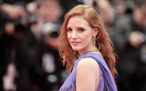 Picture look, pose, makeup, actress, hair, Jessica Chastain, Jessica Chastain