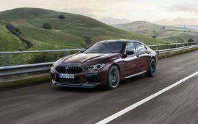 Picture road, hills, coupe, BMW, 2019, M8, the four-door, M8 Gran Coupe, M8 Competition Gran Coupe, …