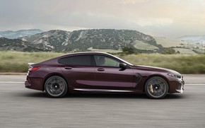 Picture movement, coupe, BMW, side, 2019, M8, the four-door, M8 Gran Coupe, M8 Competition Gran Coupe, …