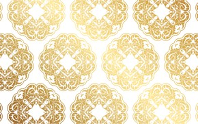 Picture texture, white background, gold, background, pattern, Decorative