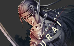 Picture elf, sword, samurai